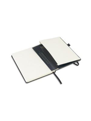 Caderno Tipo Moleskine c/ bolso interior e porta esferográfica Pautado 137X210mm - 93728