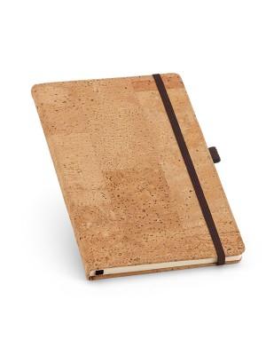 Caderno tipo Moleskine Cortiça c/elástico  137X215mm - 93730