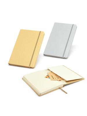 Caderno tipo Moleskine Prata ou Dourado  137x210mm - 93775