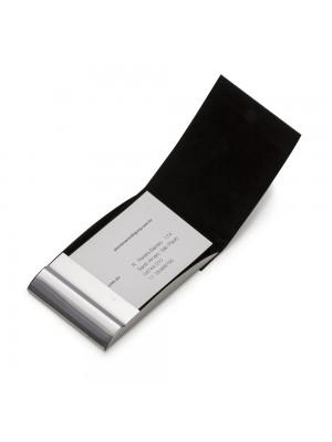 Porta Cartão de Metal c/detalhe couro sintético 11883