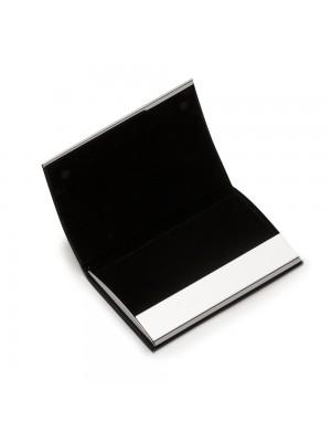 Porta Cartão de Metal c/detalhe couro sintético 12212