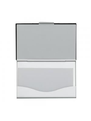 Porta Cartão de alumínio c/detalhe couro sintético 4480
