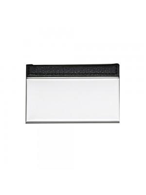 Porta Cartão de Metal c/detalhe couro sintético 8848